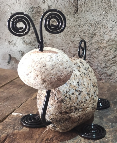 Um tonto caracol de pedra