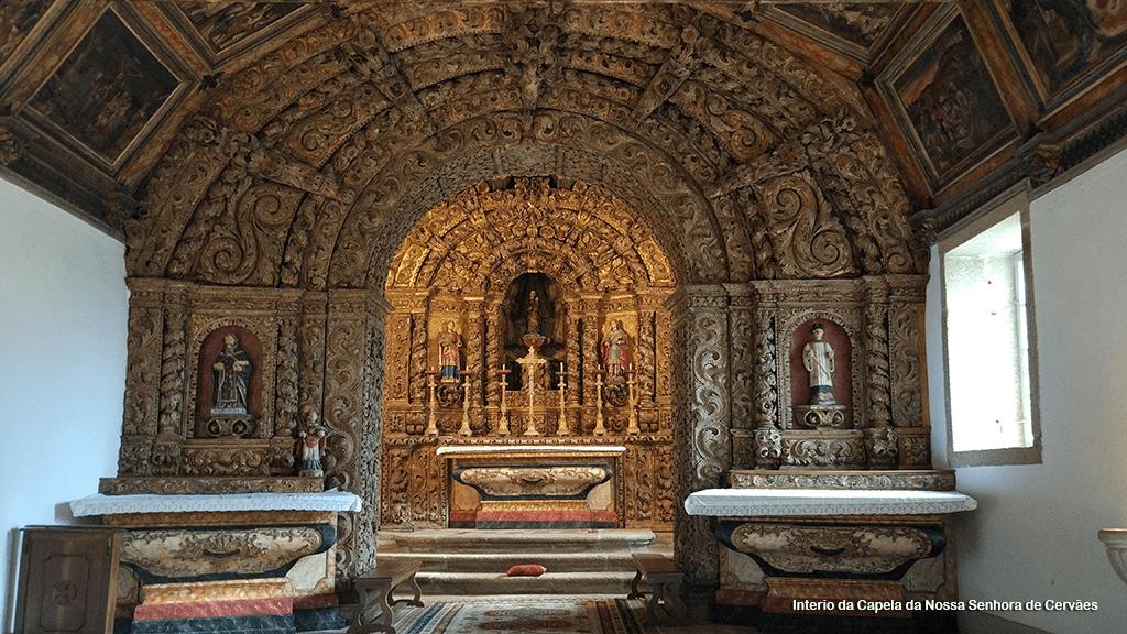 Interior da capela da Senhora de Cervães
