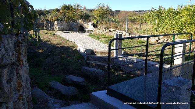 Poldras e Fonte do Chafurdo em Póvoa de Cervães