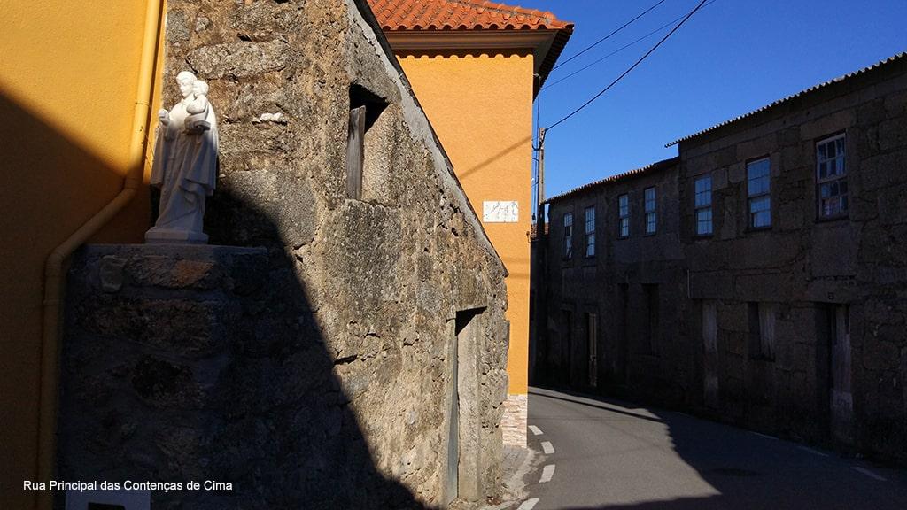 Rua principal das Contenças de Cime - São José