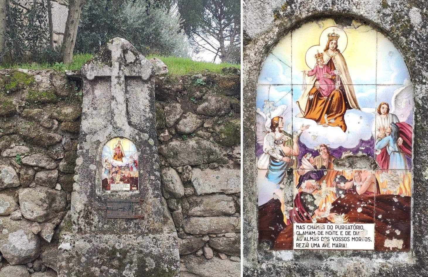 Póvoa de Cervães - Alminha na esquina da Rua Principal com a Rua do Cemitério