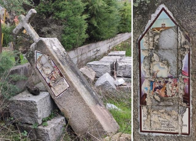 Póvoa de Cervães - Alminha à entrada da povoação (quem vem de Abrunhosa-a-velha)